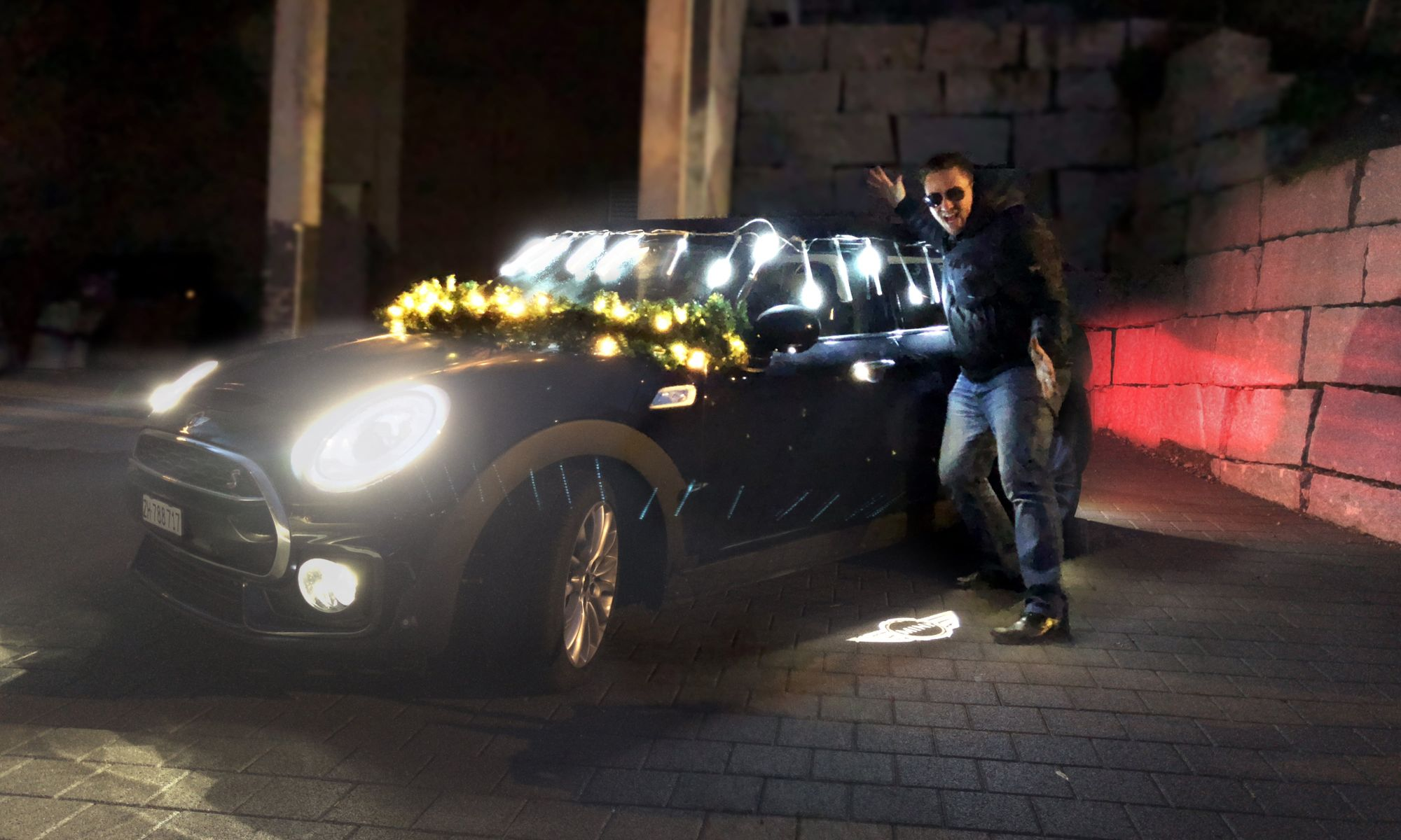 Christmas Lights on a MINI Clubman, by Renato Mitra